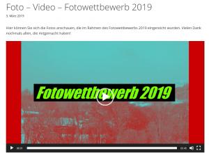 Foto – Video – Fotowettbewerb 2019