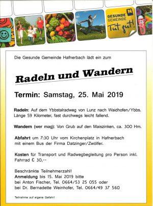 Gesunde Gemeinde: Radeln und Wandern