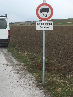 Sperre der Landesstraße Sasendorf!